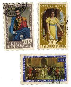 CORREOS DE REPUBLICA DE VENEZUELA X 3 stamps