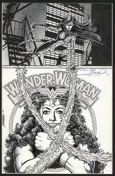 Original cover art by George Perez from Wonder Woman #9, published by DC Comics, October 1987