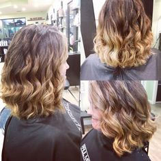 Highlighted lob with balayage ends