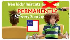 FREE Haircuts for Kids at JCP Salons Every Sunday on http://www.icravefreebies.com/