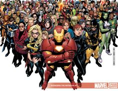 marvel comics | All Marvel Comics Together HD Desktop Wallpapers ~ Cartoon Wallpapers