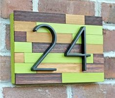 This Must Be The Place 12 House Number Diy Ideas With Images