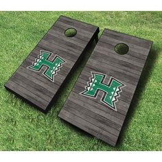 AJJCornhole NCAA 10 Piece Distressed Cornhole Set NCAA Team: