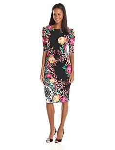 Connected Apparel Women's Elbow Sleeve Printed Floralsheath Dress, Black, 12 Connected http://www.amazon.com/dp/B015GENBLE/ref=cm_sw_r_pi_dp_vunKwb0JCCF8Y