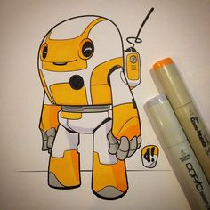 #marchofrobots 15-018 'Factory Fresh' Ready to roll. Loves me some orange and grey colour schemes. @Wacom @astutegraphics @lazynezumipro #creativelife
