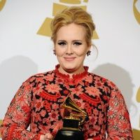 GRAMMY winner Adele backstage at the 55th Annual GRAMMY Awards on Feb. 10 in Los Angeles