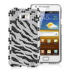 Zebra Rhinestone Diamond Case Cover For Samsung Galaxy - BlackDecorate your Samsung Galaxy with this Zebra Rhinestone Diamond Case. Give your phone a splash of color and make it special.Brand new Zebra Rhinestone Galaxy S2, Samsung Galaxy, Blackberry, Cases, Diamond, Phone, Telephone, Blackberries, Diamonds