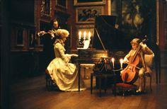Kubrick's Barry Lyndon  http://3.bp.blogspot.com/-NIvIfRr9YOA/TaLIBxHSy4I/AAAAAAAAABI/SlX4OvD_G3Q/s1600/BarryLyndon2.jpg