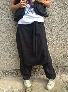 NEW Collection Loose Black Harem Pants / Extravagant by SSDfashion