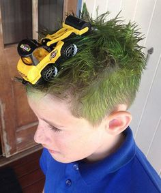 Boy Hairstyles For Crazy Hair Day - All About Style Rhempreendimentos. Crazy Hair Day Boy, Crazy Hair For Kids, Crazy Hair Day At School, Short Hair For Boys, Crazy Hat Day, School Hairdos, Hairstyles For School, Wacky Hair Days, Funky Hairstyles