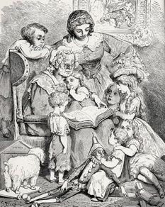 Ilustração de Charles Doré para Contos de Mamãe Ganso, de Charles Perroult.