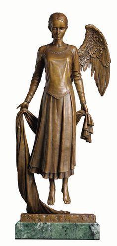 """""""Sleeper, Lost in Dreams"""" Bronze Sculpture by James C. Christensen"""
