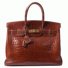 Hermes Honey Meil  Alligator 35cm Birkin Bag