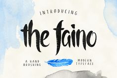 the faino is a font that uses a brush handwriting font style. Character is very unique, have texture and fun, suitable for a wedding invitation, badges, foods menu design etc. Small font