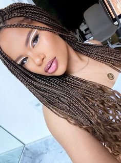 Alissa Ashley, Types Of Braids, Makeup Photography, Protective Styles, Makeup Inspo, Natural Hair Styles, Make Up, Dreadlocks, Skin Care