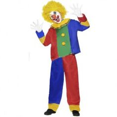 Buy this Colourful Clown boys costume online today at Heaven Costumes. Great value for money kids clown costume a cool Book Week fancy dress up costume ...  sc 1 st  Pinterest & Homemade Clown Costumes | Crafty Goodness | Pinterest | Costumes ...