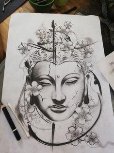 Leg Tattoos Women, Mom Tattoos, Small Tattoos, Sleeve Tattoos, Mandala Tattoo Leg, Zen Tattoo, Buda Tattoo, Buddha Tattoo Design, Tattoo Ideas