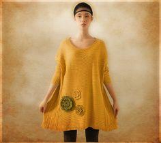 Yellow Wool Blouse