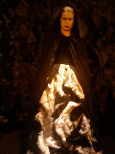 Blood Wedding (Frederico Garcia Lorca)  Mother costume (with the large machine embroidered panel that I made)