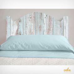 Echa un vistazo ahora! Ocean Inspired Bedroom, Cama Vintage, Home Bedroom, Bedroom Decor, Headboard Decor, Bedroom Frames, Cottage Interiors, Door Bed, Furniture Design