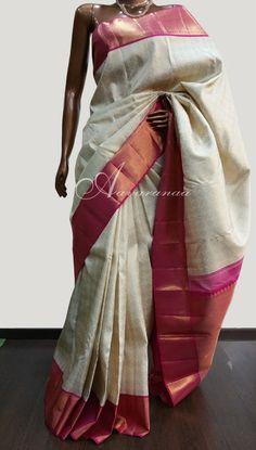 Off white bridal sari