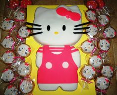 Hello kitty cake & cookie pops
