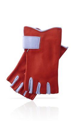 Guanto donna sfoderato mezze dita rosso Gucci Azzurro. Disponibile in 7  colori. f4e3d4a6a020