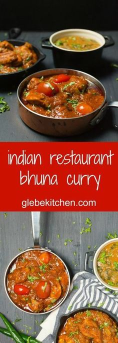 restaurant bhuna curry Indian restaurant bhuna curry is a thick curry loaded with tomato, spices and onions.Indian restaurant bhuna curry is a thick curry loaded with tomato, spices and onions. Veg Recipes, Curry Recipes, Indian Food Recipes, Asian Recipes, Chicken Recipes, Cooking Recipes, Bhuna Chicken Recipe, Recipies, Cooking Tips