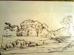 DAVID - Fountain pen doodle - idea for a painting