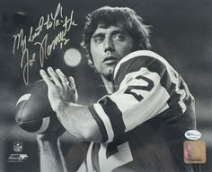 JOE NAMATH SIGNED 8X10 COA ONLINE AUTHENTICS AUTOGRAPH JETS BROADWAY WILLIE