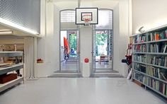 basketball area in the reception