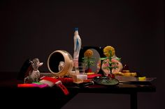Mariel Neudecker | Dutch and Flemish Still Lifes Rendered in Plastic, Still Life with Flower and Poodle