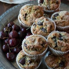 Cherry Chocolate Chip Muffins   The First Year