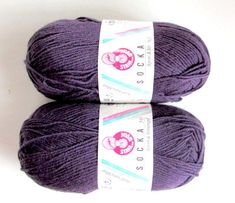 KNITTING WOOL// SOCKA 50//*(2x50gr.Balls) by-Stahal Wool forSocks/Collor Eggplant.//2 Balls Makes 1 pair Adult sock//Was (20.00)Now!