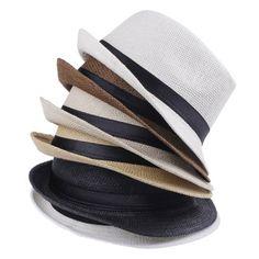 EOZY Para Mujer Hombre Paja De Lino Playa Sol Panamá Sombrero ( 5Color  Crema) 3fa1f604f15