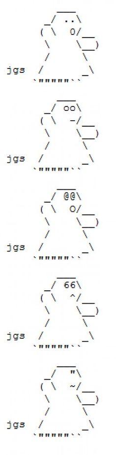Ghosts, spooks and spirits in ASCII text art. Ascii Art, Computer Art, Ghosts, Keyboard, Spirit, Halloween, Artist, Typography, Artists