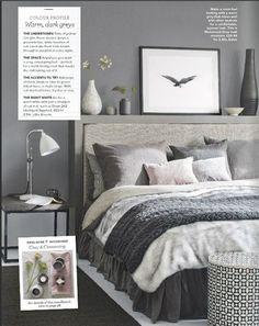 grey bedroom /ideal home feb. 2016