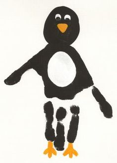 penguin handprint