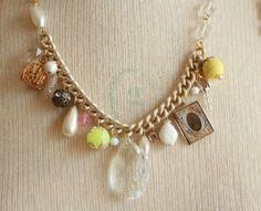 fresh limes ladies charm necklace @sweetshoppejewelrystore.com #handmadevintagejewelry