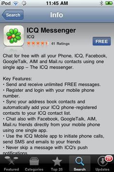 Download ICQ Messenger App for iPhone, iPod Touch