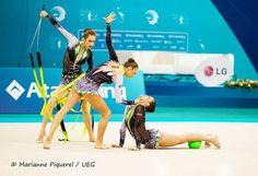 Group Bulgaria, European Championships (Baku) 2014 #group_rhythmic_gymnastics #RG #rhythmic_gymnastics