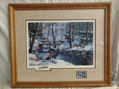 """Coming Together"" by Ken Zylla Commemorative Print North American Game Bird 1985 #Realism"