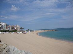 Beach in Sant Pol del Mar, Spain
