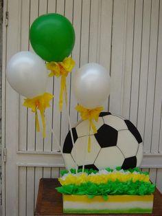 DECORACION DE FIESTA MOTIVO FÚTBOL. ( CHUPETERA ) Soccer Party, Ideas Para Fiestas, Party Time, Projects To Try, Birthday, Emilio, Kids, Wedding, Gabriel
