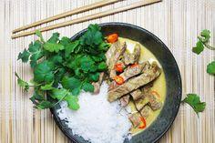 Gul curry med oksekød – Middag på 10 minutter