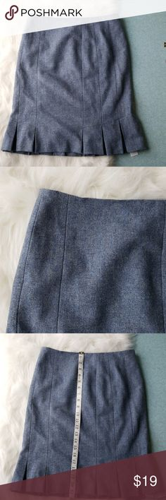6p talbots wool skirt Excellent  like new without tags condition 100% wool powder blue skirt size 6 petite Talbots Skirts Midi