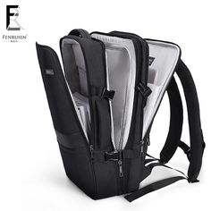 FENRUIEN New 17 inch Laptop Backpack Men Business Waterproof Backpack USB  Charging Large Bag 15