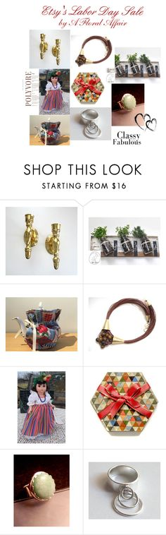 """""""Etsy's Labor Day Sale by A Floral Affair"""" by afloralaffair-1 ❤ liked on Polyvore featuring interior, interiors, interior design, home, home decor, interior decorating, Madame Alexander, rustic and vintage"""