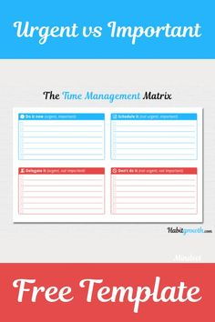 Do you know the difference between urgent vs important? This matrix helps you to understand the difference between what is urgent and what is important. Time Management Printable, Time Management Quotes, Time Management Strategies, Good Time Management, Manager Quotes, Productivity Apps, What Activities, Core Values, Printable Quotes