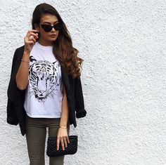 Tiger Tee From fivepoundtee.com - For More Fashion Pictures Check Out @fashionbymnp on Instagram or fashionbymnp.blogspot.co.uk